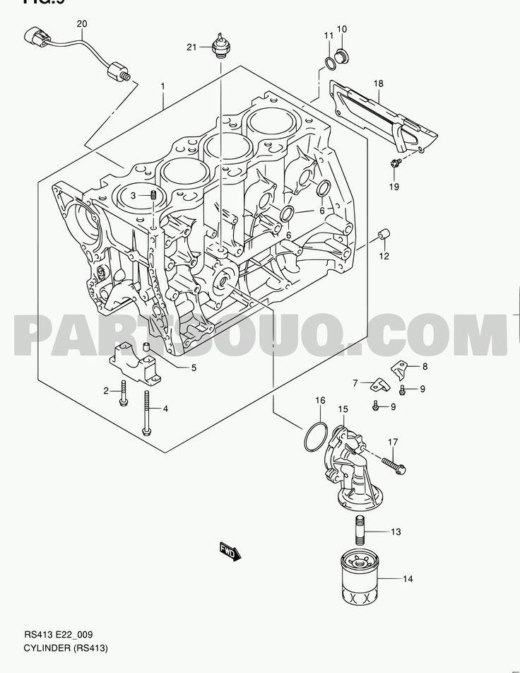 Suzuki M13a Engine Diagram