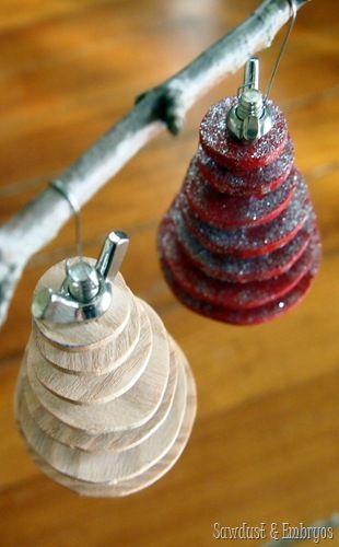 DIY Industrial Christmas Tree Ornament
