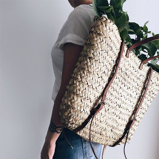 Basket carry-all backpack