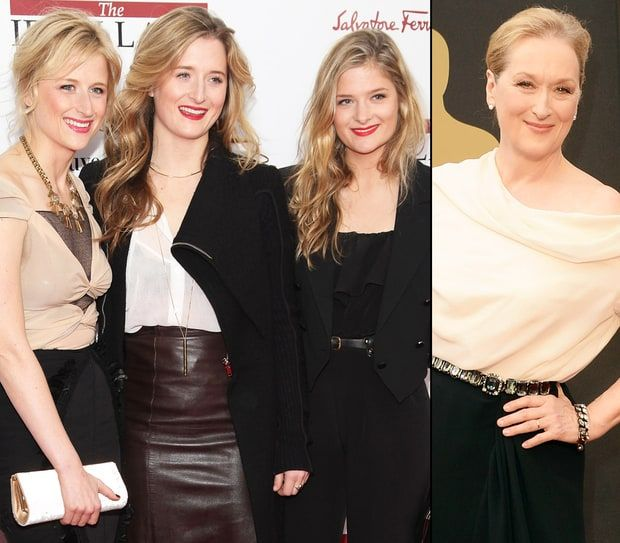 Meryl Streep and Daughters Mamie, Grace, and Louisa Gummer