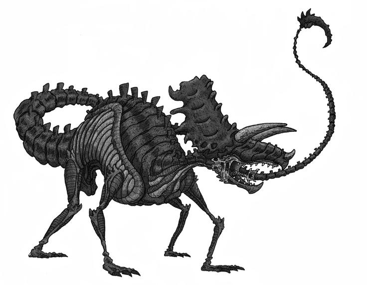 Triceratops Xenomorph Dinosaur Xenomorphs Pinterest