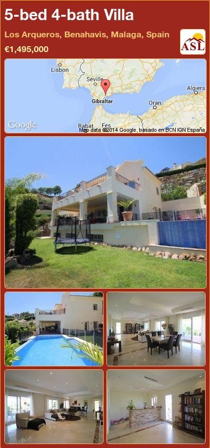 5-bed 4-bath Villa in Los Arqueros, Benahavis, Malaga, Spain ►€1,495,000 #PropertyForSaleInSpain