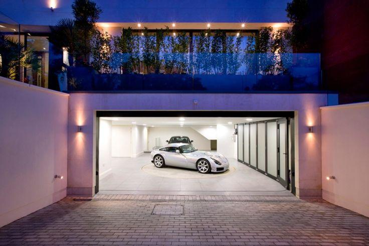subterranean garages with pools | ... _london_uk_england_million_pound_interior_design_garage_cars_lighting