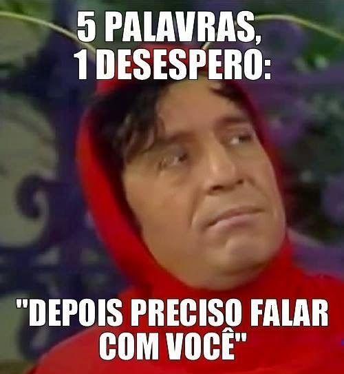 Imagem e Frases Facebook: 5 PALAVRAS, 1 DESESPERO