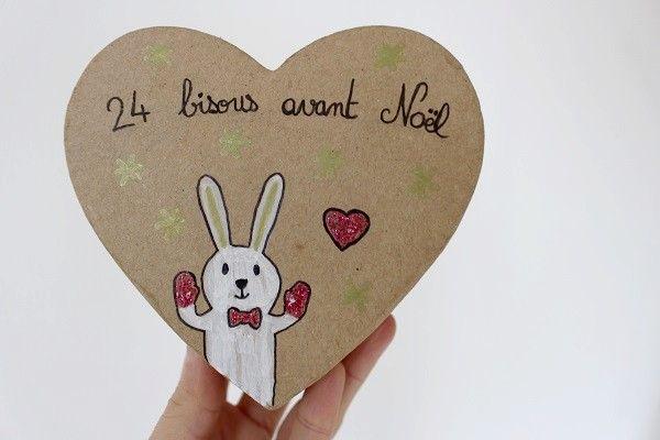 Boîte coeur pour le calendrier de l'Avent des bisous #bisous #calendrier #avent #calendrieravent #bisous #diy #faitmaison