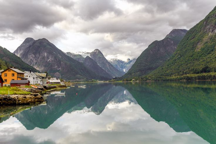 Mirror in the fjord - null