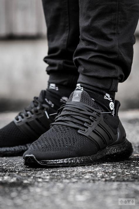 adidas ultra boost 30 triple black ba8920 black adidas shoes with pink stripes