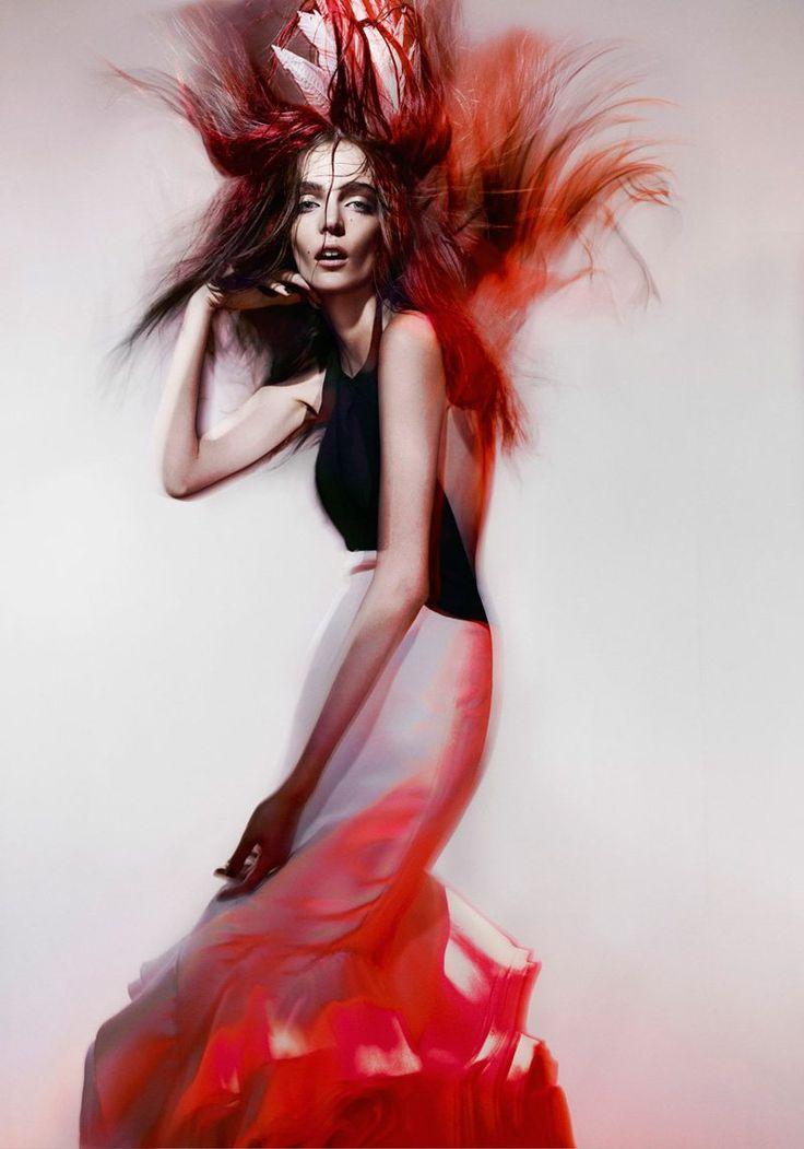 Zuzanna Bijoch is a Work of Art for Hunter & Gatti's Flesz Magazine Shoot
