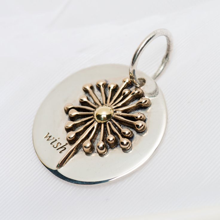 Wish dandelion charm #3524 available now in stores and online > https://palasjewellery.com.au/stockist-australia/ #palasjewellery #birthday #celebration