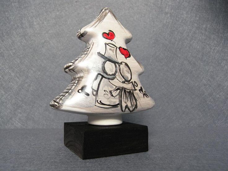 Albero di Natale in miniatura. Ceramiche Artistiche