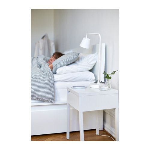 SELJE Nightstand with wireless charging  - IKEA