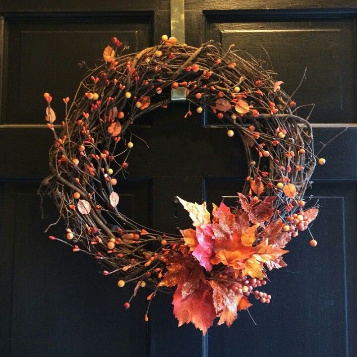 Fall Wreath I Made From Supplies At Michaels Home Decor