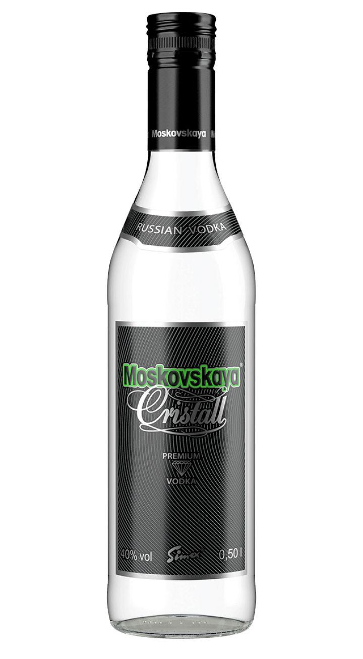Moskovskaya Christall Vodka / 40% / 0,5l http://www.flaschenhandel.com/Moskovskaya-Christall-Vodka