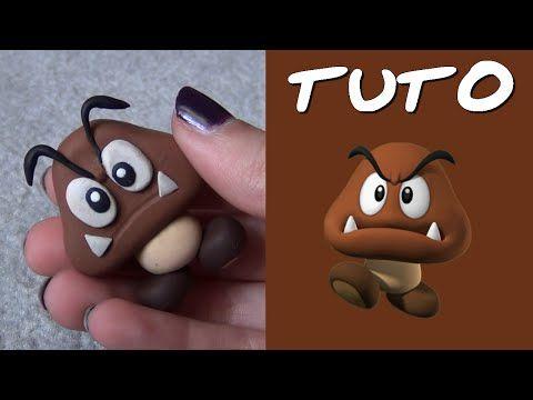TUTO FIMO   Goomba (de Mario) polymer clay tutorial