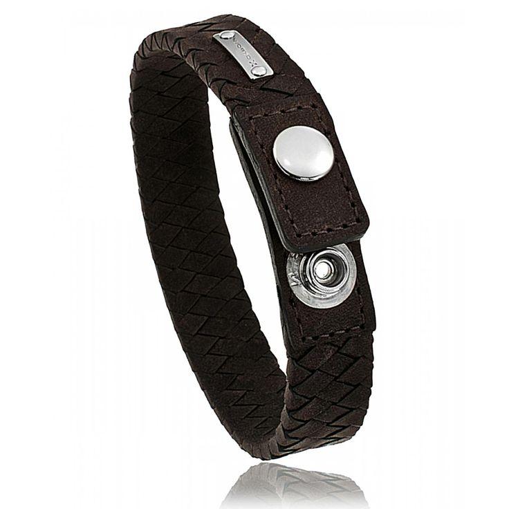Men leather Nomad Spirit red-brown bracelets - Oxbow