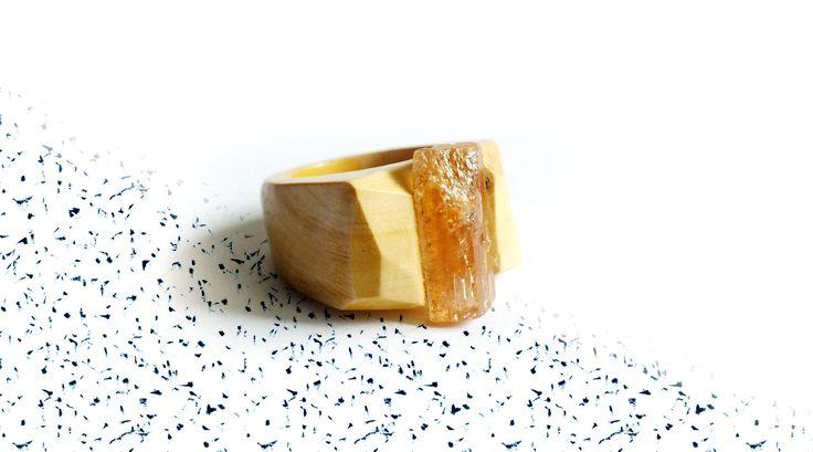 Anello in legno con pietra Sodalite 18 mm 7.5 US di MorelliniJewelry su Etsy