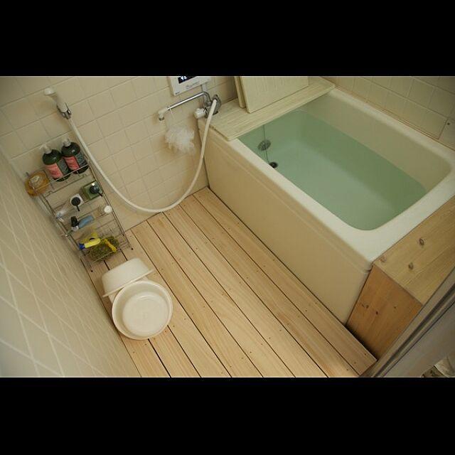 バス トイレ マルトク ヒノキのスノコ Diy 浴室 などのインテリア実例 2015 06 02 17 17 04 Roomclip ルームクリップ 浴室 Diy お風呂 インテリア 賃貸 レトロなバスルーム
