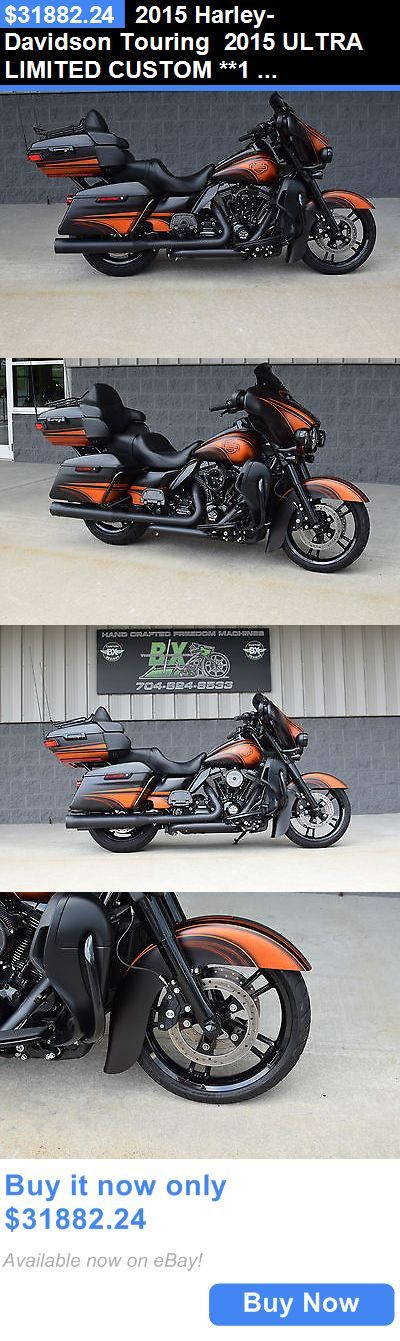 Motorcycles: 2015 Harley-Davidson Touring 2015 Ultra Limited Custom **1 Of A Kind** $15K In Xtras!! Black Ops Edition!! BUY IT NOW ONLY: $31882.24