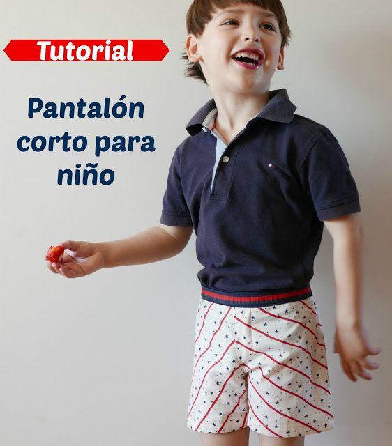 Colours for Baby, Patrones y Tutoriales de Costura : Cómo hacer un pantalón corto de niño, patrón grati...