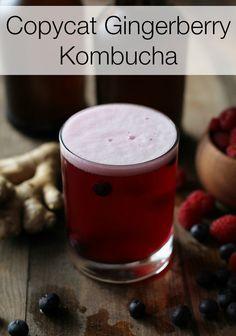 Copycat Gingerberry Kombucha - brew your own tasty probiotic-rich kombucha at home! @roastedroot