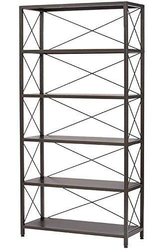 Amazon.com - Ryan Metal Bookcase, 5 SHELF, BURNISHED BLACK -