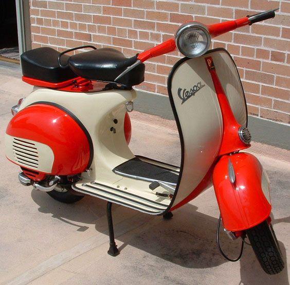 "#vespa 1962 ""Vintage"" Vespa Scooter-SOLD Fully restored 1962 Vespa 150cc-top speed 45-50mph.  Extra large 10"" rims!"