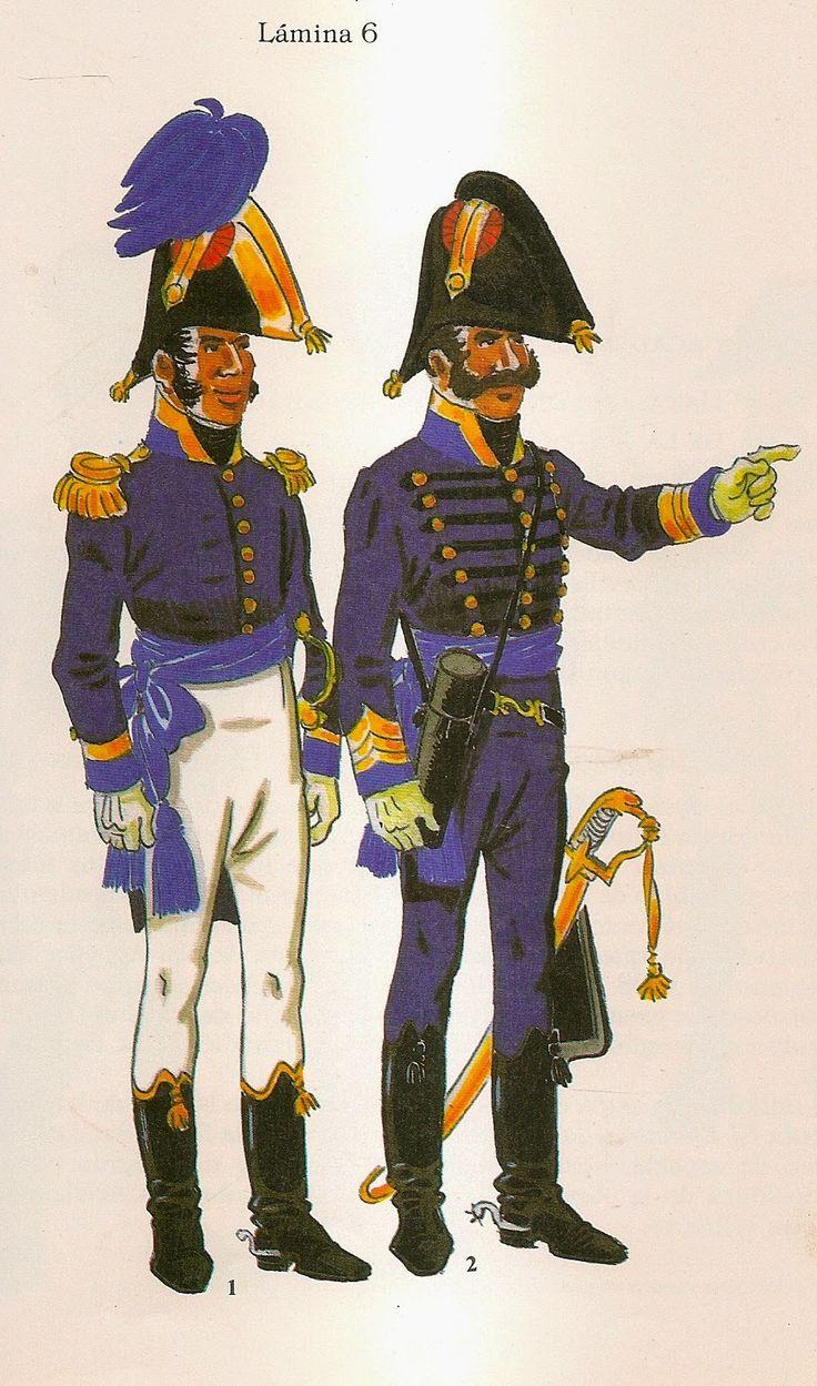 Spanish; Staff Officers, Full Dress & Campaign Dress.