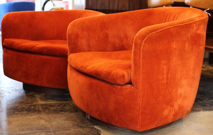 Swivel Rocking Lounge Chairs by Milo Baughman, Mid Century Modern Furniture Houston, Modernism, Mod, MCM, Mid-Century, Eames,…