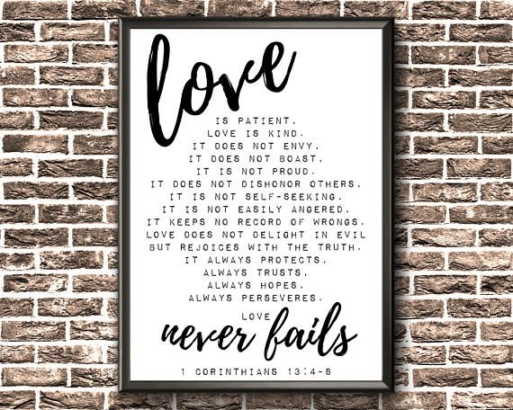 Scripture Wall Art  Love Is Patient Love Is Kind  1