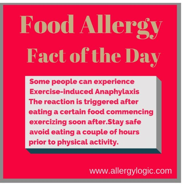 """Something so serious yet so hard to believe...Exercise-Induced Anaphylaxis (EIA) and FDEIA. As quoted in Medscape, """"A distinct subset of exercise-induced anaphylaxis is food-dependent exercise-induced anaphylaxis (FDEIA), in which anaphylaxis develops only if physical activity occurs within a few hours after eating a specific food. Neither food intake nor physical activity by itself produces anaphylaxis"""". Read more at: http://emedicine.medscape.com and http://www.healthline.com"""