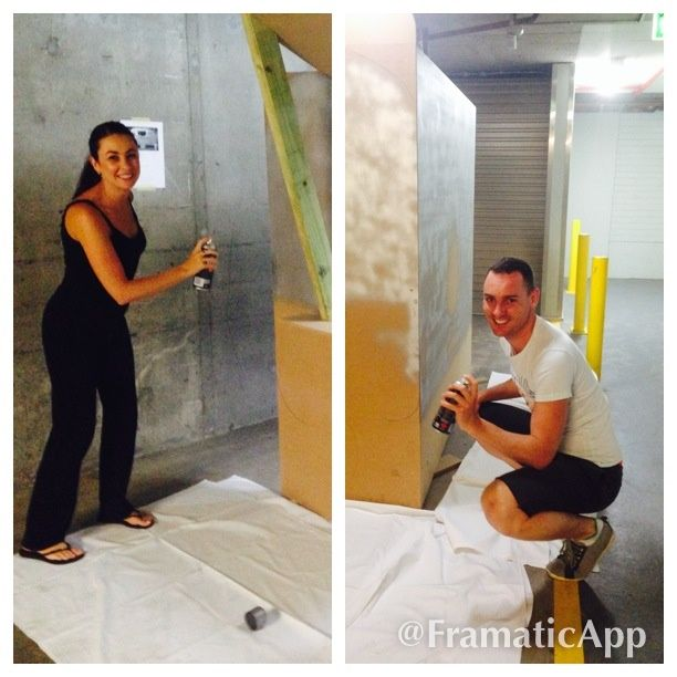 """Good with their hands & easy on the eye! :-)  Gav & Mel from @PullmanSydneyHydePark, hard """"at work"""" on our venue transformation - creating """"Denny's Diner"""" for #MeetingsCarnivale"""