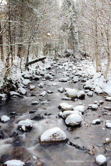 La Vallée de la Jacques-Cartier, près de Québec dans le Parc National des Laurentides.  Photo: Luc Rosseau