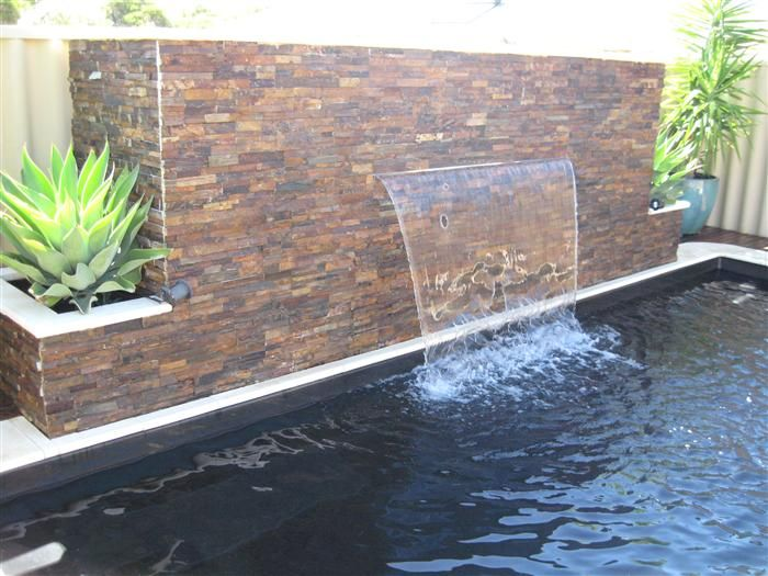Top 25 best pool water features ideas on pinterest - Swimming pool water feature ideas ...