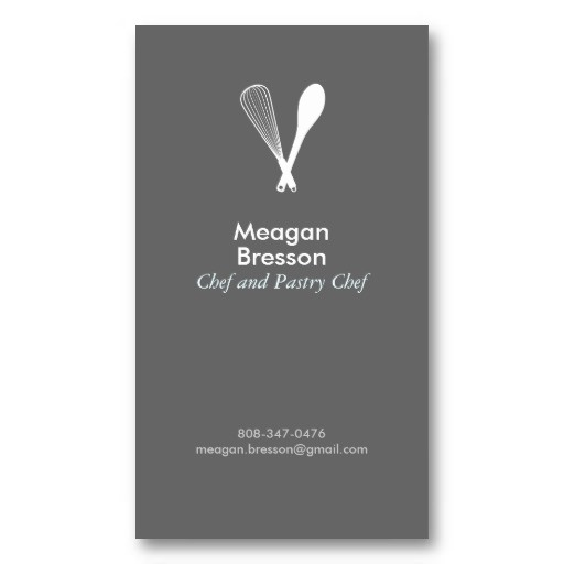 MODERN WHISK & SPOON LOGO on GRAY Business Card