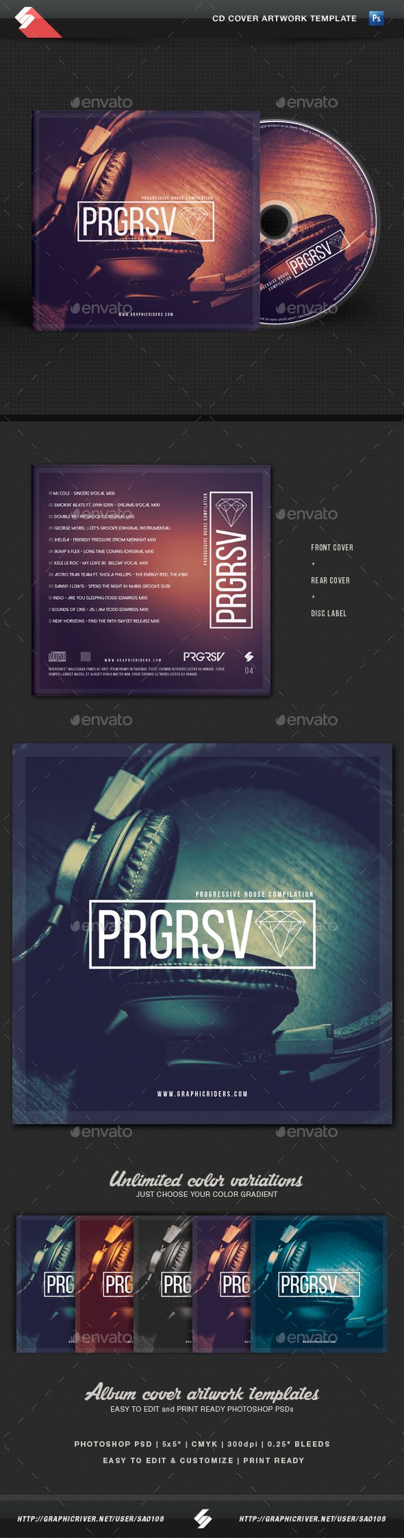 Progressive Sound - CD Cover Template
