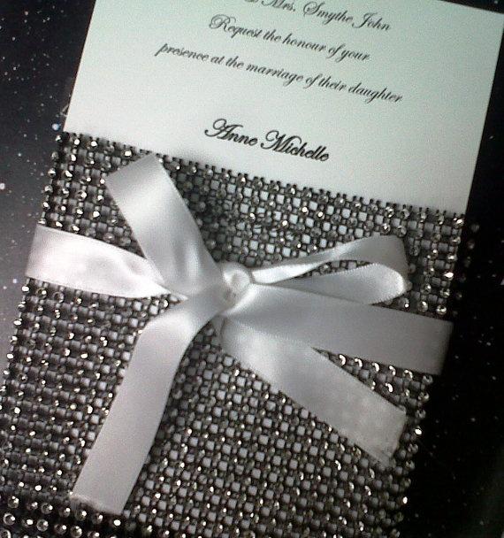 Bling Wedding Invitations 035 - Bling Wedding Invitations