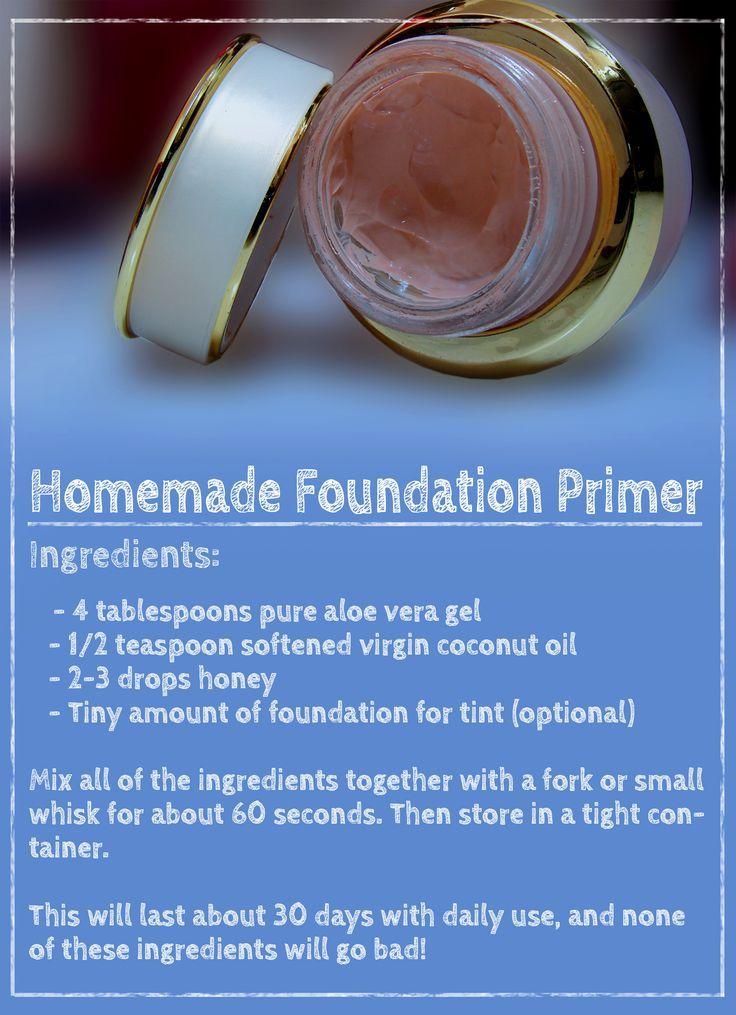 Homemade foundation primer (face primer) recipe.: