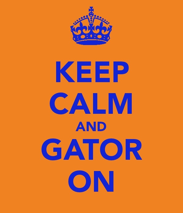 Keep Calm and Gator On: Apartment