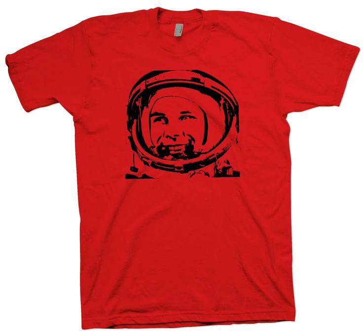 Yuri Gagarin T-Shirt, Astronaut Nerd Science Geek Tee Space Astronomy - T-Shirts