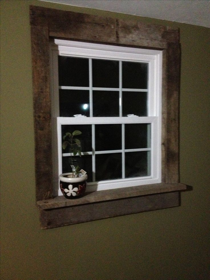 Window And Door Curtains Design: Pallet Window Casings- Project For Living Room Window