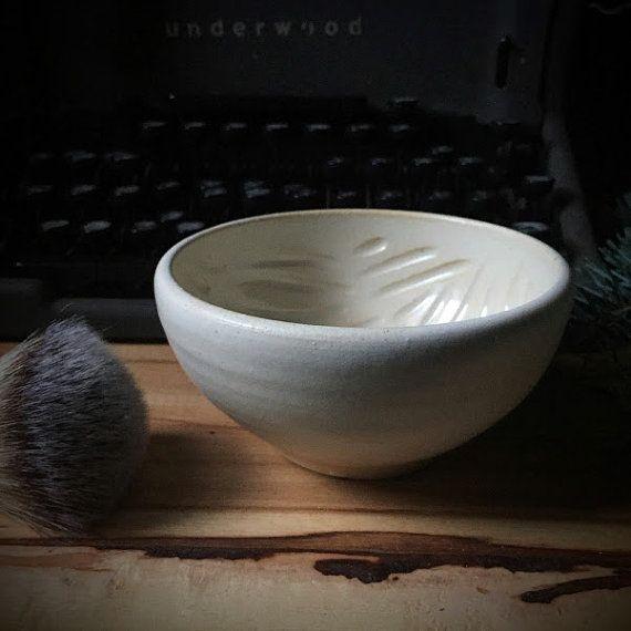 Wet Shave Lather Bowl handmade ceramic for Dad men от GravesCo