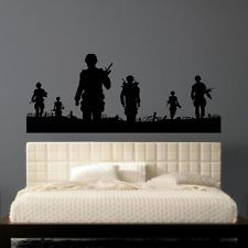ARMY MEN Wall Sticker Soldier Man Stickers Transfer Decals Helicopter Kids  Vinyl Part 60