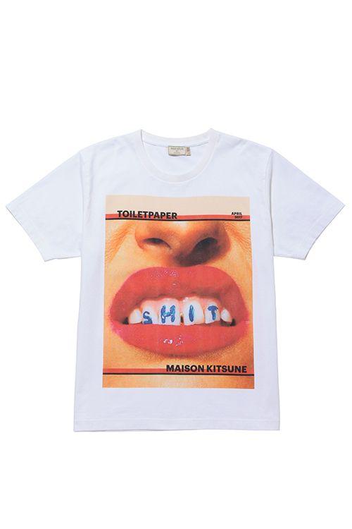 メゾン キツネ×アート雑誌『TOILETPAPER』表紙やロゴをプリントしたTシャツやフーディー - 写真1枚目 | ファッションプレス