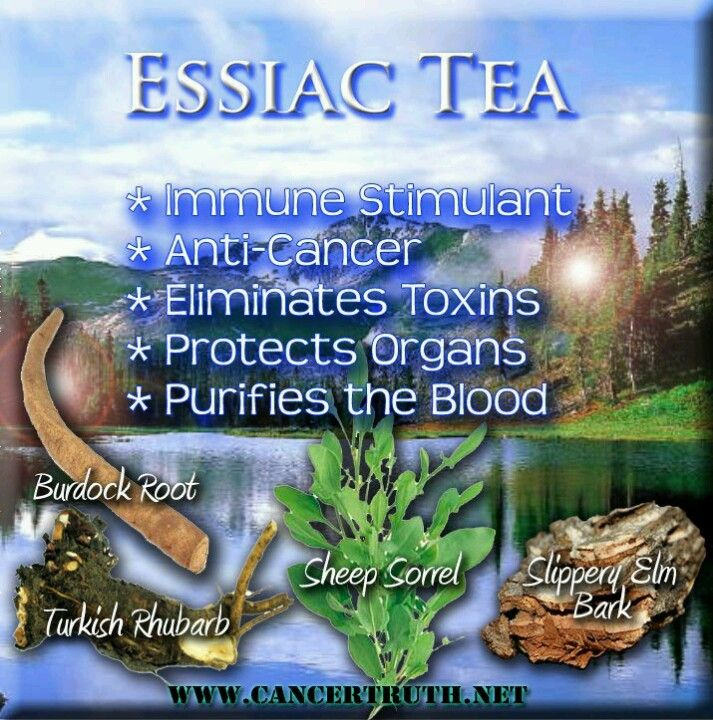 Essiac tea (good for cleansing stage)