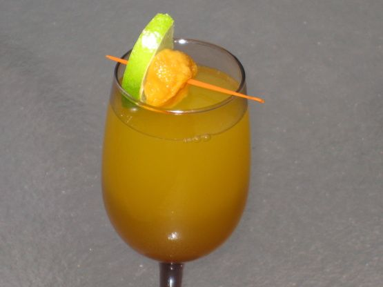 I adore frozen peach bellinis and this recipe is very close to my favorite restaurants drink. Another cooking website is where I found and adapted this recipe from.