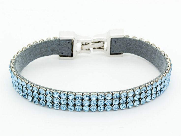 Türkiz kék Swarovski kristályos nemesacél karkötő