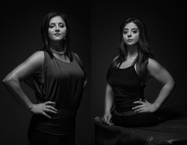 Black and white photo of Dominique Moceanu and her sister ...