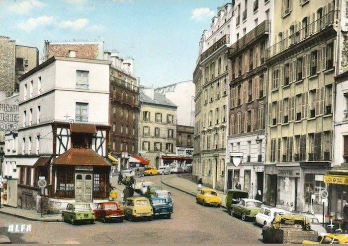 rue lepic ann es 50 montmartre autrefois pinterest paris photos et angles. Black Bedroom Furniture Sets. Home Design Ideas