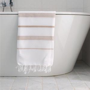 Hamam Towel White Camel Standard