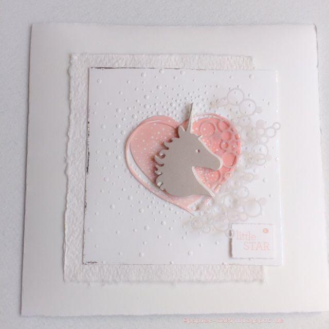 papierZART : Little Star, Babykarte, Baby, Einhorn, Clear Stamps, Cardmaking, Alexandra Renke, Erlebniswelt